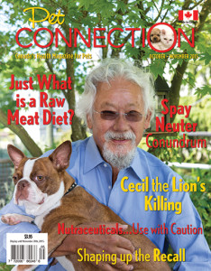 DR DAVID SUZUKI ON THE COVER OF PET CONNECTION MAGAZINE